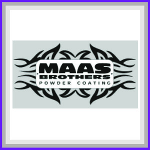 This is Maas Brother Powder Coating Sponsor logo.