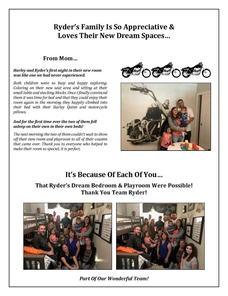 Thank you for your support of Ryder's Dream Makeover_Page_2